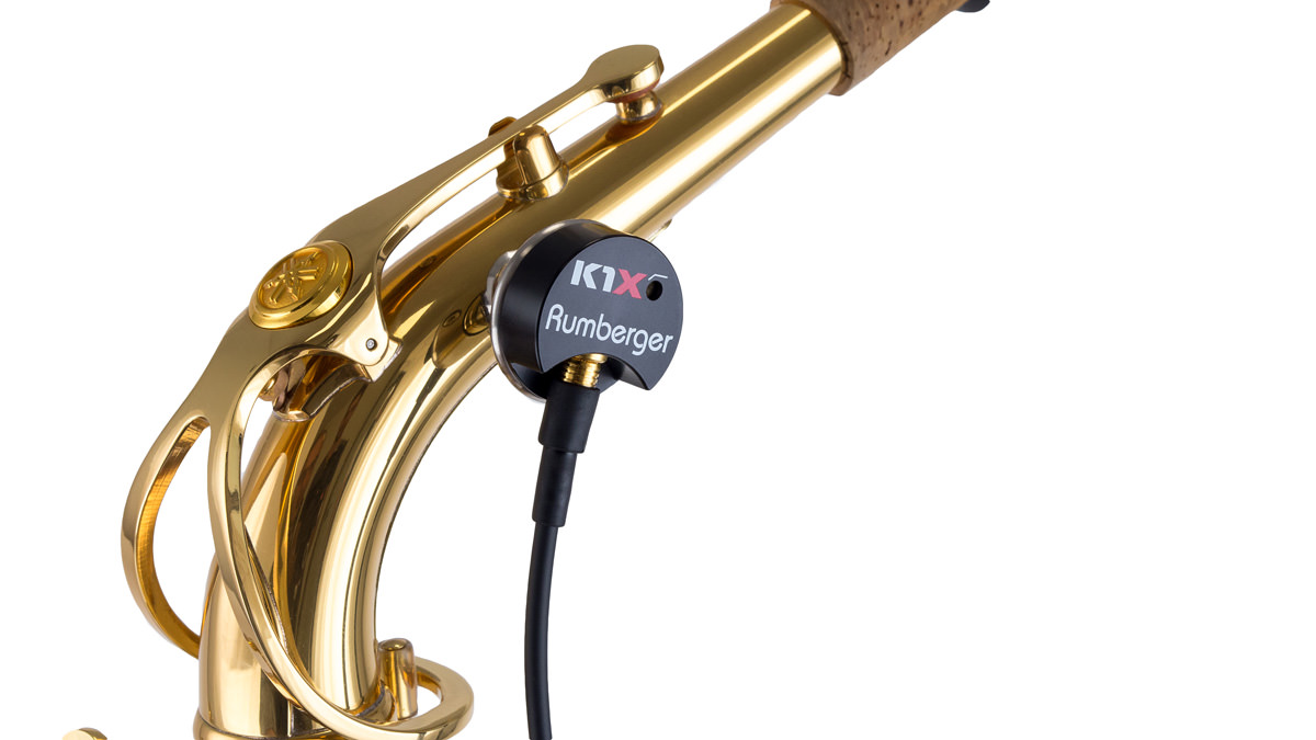 pickup K1X on a saxophone