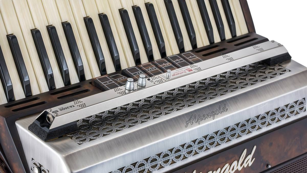 Microphone system TA3000eco on an accordion